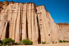 Formación de roca gótica de la catedral - parque nacional de Talampaya - la Argentina Imagenes de archivo