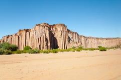 Formación de roca gótica de la catedral - parque nacional de Talampaya - la Argentina Fotografía de archivo libre de regalías