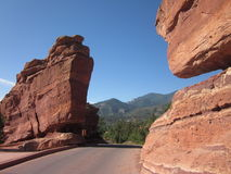 Formación de roca, jardín de dioses Foto de archivo