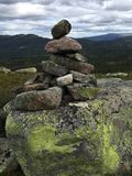 Formación de roca, Noruega foto de archivo libre de regalías