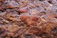 Formación de roca de piedra conglomerada en Cachoeira DA Primavera, cascada de la primavera, Chapada Diamantina, Lencois, el Bras imagenes de archivo