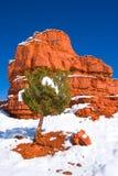 Formación de roca roja Foto de archivo