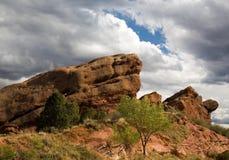 Formación de roca roja en Colorado Fotos de archivo