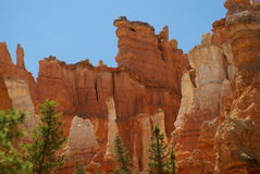 Formación de roca roja en el parque de la barranca del bryce, Utah Fotografía de archivo libre de regalías