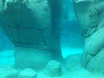 Formación de roca subacuática imagen de archivo libre de regalías