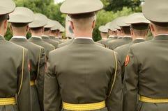 Formación de soldados. Fotos de archivo libres de regalías