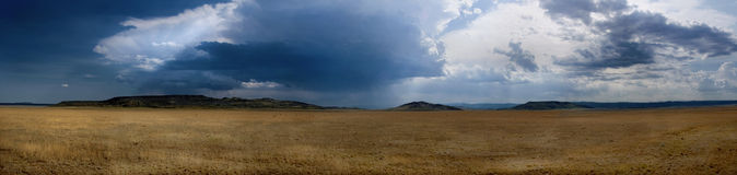 Formación de tempestad de truenos sobre Raton New México Fotos de archivo libres de regalías
