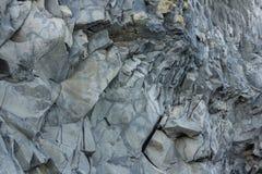 Formación del extracto de Islandia de la playa de Vik Imagenes de archivo