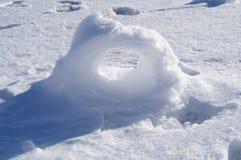 Formación del rizo de la nieve Fotografía de archivo libre de regalías
