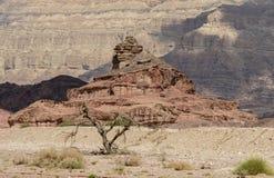 Formación geológica nombrada como tornillo, desierto del Negev, Israel Imagen de archivo libre de regalías