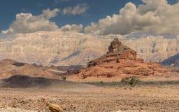 Formación geológica nombrada como tornillo, desierto del Negev, Israel Imágenes de archivo libres de regalías