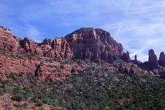 Formación roja de la pared de barranco de la roca Fotos de archivo libres de regalías