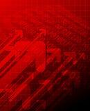 Formación técnica abstracta roja Imagen de archivo libre de regalías