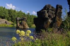 formaci Iceland lawy myvatn Fotografia Stock