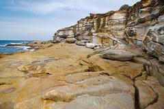 formaci nabrzeżna skała Obrazy Royalty Free