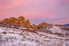 Formación de roca de la espina dorsal de los diablos Fotografía de archivo