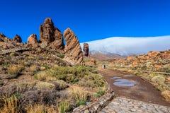 Formación de roca en el parque nacional Tenerife de Teide Fotografía de archivo libre de regalías