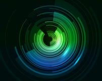 Formación técnica abstracta con los círculos y las rayas Imagen de archivo libre de regalías