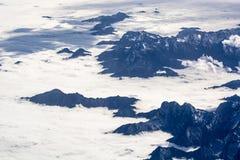 Formaciones aéreas de la nube Fotografía de archivo