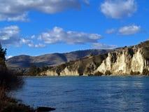 Formaciones de cabeza llana del río Imagen de archivo libre de regalías