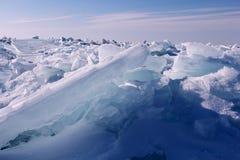 Formaciones de hielo en el lago Mighigan 2 fotografía de archivo
