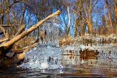 Formaciones de hielo hermosas Illinois Imágenes de archivo libres de regalías