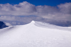 Formaciones de la nieve Fotografía de archivo libre de regalías