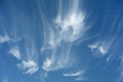 Formaciones de la nube de cirro Imagen de archivo libre de regalías