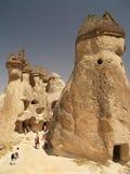Formaciones de la piedra arenisca en Cappadocia foto de archivo