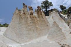 Formaciones de la toba volcánica Foto de archivo