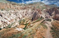 Formaciones de roca de Cappadocia Fotos de archivo libres de regalías