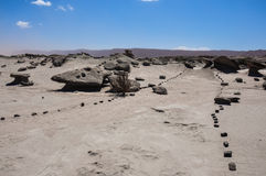 Formaciones de roca de Ischigualasto en el la Luna, la Argentina de Valle de Imagenes de archivo