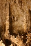 Formaciones de roca de las cavernas de Carlsbad Fotos de archivo