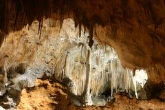 Formaciones de roca de las cavernas de Carlsbad Imagen de archivo