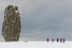 Formaciones de roca de Manpupuner fotos de archivo