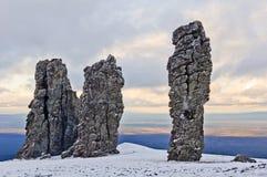 Formaciones de roca de Manpupuner imagen de archivo