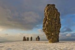 Formaciones de roca de Manpupuner fotografía de archivo libre de regalías