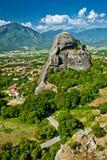 Formaciones de roca de Meteora Imagen de archivo libre de regalías