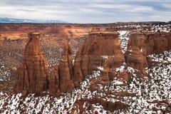 Formaciones de roca de monumento nacional de Colorado Imagen de archivo libre de regalías