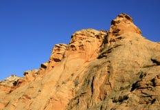 Formaciones de roca de oro Fotos de archivo libres de regalías
