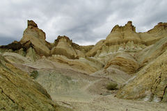 Formaciones de roca del Alcazar de Cerro en la Argentina Foto de archivo libre de regalías