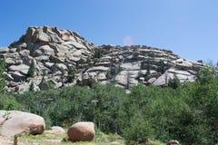 Formaciones de roca del granito de Vedauwoo fotografía de archivo libre de regalías
