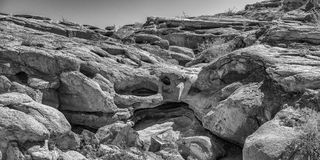 Formaciones de roca en Anza Borrego Imagen de archivo libre de regalías