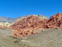Formaciones de roca en desierto Foto de archivo