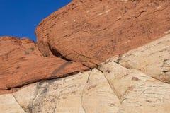 Formaciones de roca en el barranco-Las rojo Vegas, Nevada de la roca imagenes de archivo