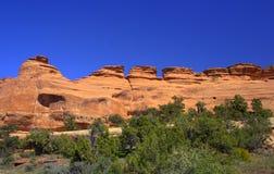 Formaciones de roca en el monumento nacional 2 de Colorado Imágenes de archivo libres de regalías