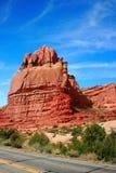 Formaciones de roca en el parque nacional de los arcos Imagen de archivo libre de regalías
