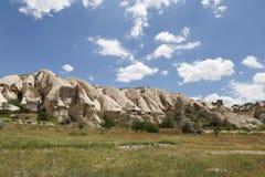 Formaciones de roca en el valle de las espadas, Cappadocia Foto de archivo libre de regalías