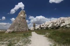 Formaciones de roca en el valle de las espadas, Cappadocia Imágenes de archivo libres de regalías