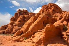 Formaciones de roca en el valle del fuego Foto de archivo